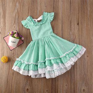 2020 Summer Kids Short Sleeve Princess Dresses for Girls Party Dress Birthday Tutu Dresses Children Casual Wear 1-5Y Vestidos