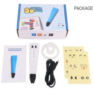 ده وانغ 3D القلم DIY 3 D الطباعة رسم أقلام القلم دعم جيش التحرير الشعبى الصينى / ABS الشعيرة الإبداعية لعبة هدية عيد الميلاد للأطفال تصميم بالجملة