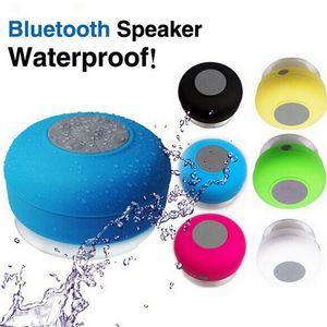 Kablosuz Bluetooth Hoparlör Duş Araç Kiti Çağrı Mini Emme Telefon IPX4 hoparlörler çalar kutusu alın
