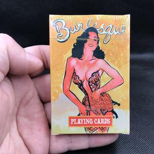 55 карт колода красивые девушки игральные карты, водонепроницаемый пластиковый покер коллекции карт прочных волшебных карт Carta de Poker
