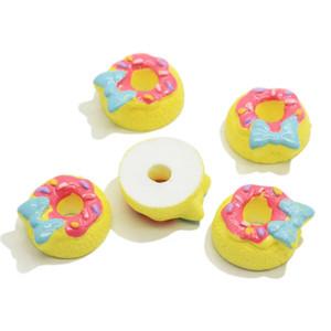 Hairbow Merkezleri Craft Bezeme Cabochon Kaynağı Yapımı 16mm Charms Mavi Bow serpilmiş çörek Cabochon Flatback Sweets