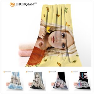 Costumbre Britney Jean 35x75cm cara Toallas de fibra de bambú Facecloth paño de toalla de secado rápido Deportes