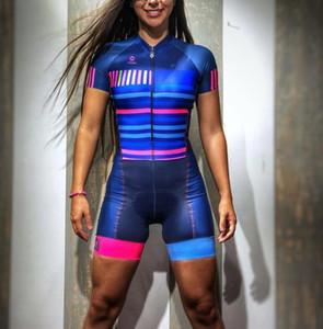 2019 Pro Team Triathlon giacca giacca da donna manica corta in bicicletta jersey skinsuit tuta maillot ciclismo ropa ciclismo set gel