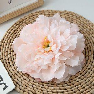 Jefes 16cm Gran Peony de seda flor del Peony de alto grado falso artificial Antecedentes pared de la flor de la boda de flores Inicio Manual de la decoración DIY