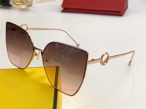 Luxus-Designer Damenmode Sonnenbrillen 0323 Cat Eye Sonnenbrille einfach großzügig Bestseller Stil Top-Qualität uv400 Schutzbrille