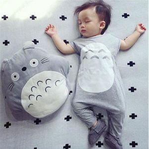 Nuovo arrivo Autunno Baby Boy Girl Pagliaccetti 2pcs My Neighbor Totoro manica lunga neonato pagliaccetti + cappello carino vestiti per bambini