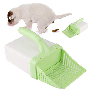 Cat Litter Shovel Pet Cat Litter Sifter Hollow Neater Scooper Cat Sand Scoop de limpieza con 15pcs bolsas de basura