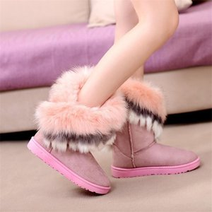2018-2019-2020 Women Snow Ankle Boots Female Fur Winter Boots Warm Australia Booties Fashion Shoes Botas