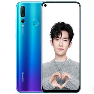 Original Huawei nova4 6.4inch 6 / 8GB 128GB Android 9.0 téléphone mobile Kirin 970 Qcta-core Double caméra arrière 3750mah