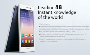 Original de telefone celular Huawei Ascend P7 4G LTE 2GB RAM 16GB ROM Kirin 910T Quad Core Android 5.0 polegadas 13.0MP 2500mAh telefone móvel esperto