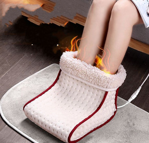 Подогреваемый вставная Электрический теплый Foot Warmer моющийся отборочные управления Настройки грелка Подушка Тепловое Foot Warmer Массаж
