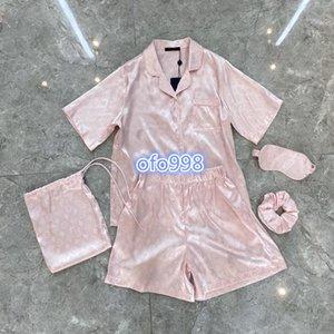 2020 High-End-Frauen Mädchenpyjamas Satz T-Shirt-Oberteile in ganz Monogramm Brief drucken Kurzarm T-Shirt Shorts Hose Jogging legging Art und Weise Klage