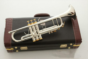 New Bach Model LT197S-99 Trumpet B Flat Silver Plated Professional Trumpete Musical Instruments with bach Case Brass Instruments