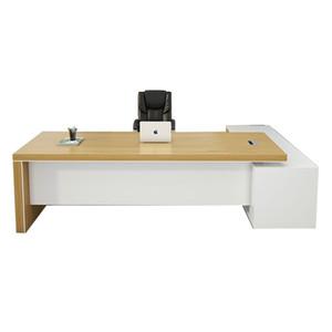 Custom Hold Modern DISEÑO Mueble de madera Mueble Muebles de oficina Mesa Ejecutiva Oficina Mesa de escritorio de oficina con mesa de mesa lateral