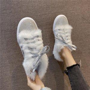 Shoes Woman s Slippers Luxury Slides Fur Flip Flops Winter Footwear 2020 Designer Flat Plush Glitter Soft Casual Rubber Fashion