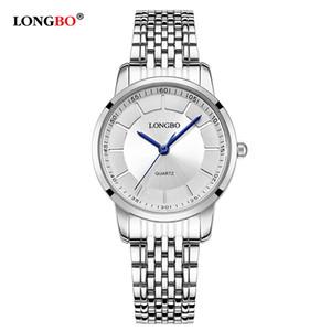 2020 Longbo дорогие любители Кварцевые часы Женские часы Мужские часы Пара стали Наручные часы Мода повседневные часы Золото 1 / шт 80281