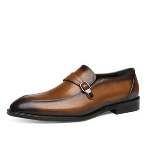 Men Shoes Business Formal Wear Leather Shoes Men's Leather Genuine Leather Pointed Toe Style