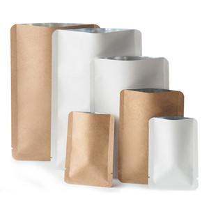 Boda de calor al por mayor de Kraft / White Paper Open Top bolsa con cierre Snack-Embalaje de la bolsa del regalo del partido del lacre del papel bolsa