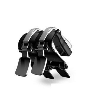La última s4 caliente súper móvil gatillo de disparo móvil Botones de metal del juego Joystick contacto físico pulse Controlador L1R1 Para las reglas de Su PUBG