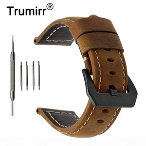 20mm 22mm 24mm 26mm Italy Genuine Leather Watch Band For Panerai Luminor Radiomir Stainless Steel Buckle Watchband Wrist Strap T190620