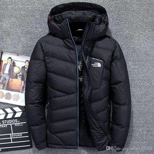 YENİ en kaliteli Erkekler YÜZ Giyim Kalın kuzey Kış Açık Ağır Coats Aşağı YELEK yüz ceketleri Giyim mens