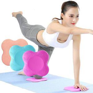 2PCS portatile Piccola rotonda Knee Pad Yoga Cushion Mats fitness Sprot Pad Plank Palestra disco protettivo non di slittamento TPE Mat supporto