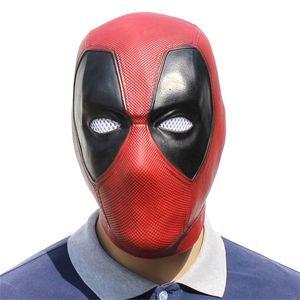 Deadpool Latex Masques Film Cosplay Adulte Animal Parti Masque Minou Réal Mascarade Prop Fantaisie Robe Parti Halloween Masque