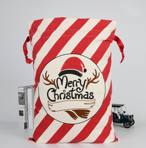 La última 50x70cm nuevo estilo 20 bolsas de regalo de Navidad dulces de Navidad Navidad Bolsa de algodón ayuda libre del envío de logotipo personalizado