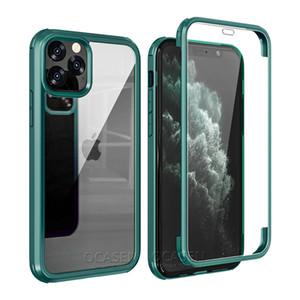 Full Body Heavey Duty 360 Protection anti-choc Boîtier intégré Verre de protection pour iPhone 11 Pro Max XR XS Max 7 8 SE 2020
