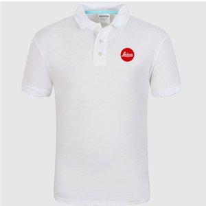 Новая рубашка поло Leica logo хлопчатобумажная рубашка поло с коротким рукавом высокое количество рубашек поло