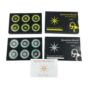 6 pcs quantum escudo adesivo etiqueta do telefone móvel para o telefone celular anti radiação de proteção de EMF fusão excel anti-radiação