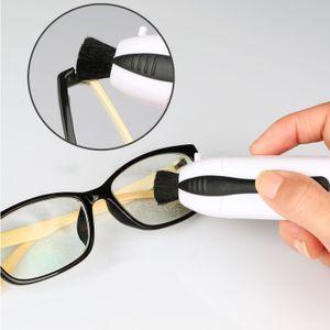 Brillen Sonnenbrille All in One-Gläser-sauberere Bürsten-Gläser-Werkzeug-Satz-Weiß US NEUE bewegliche Reinigungsbürste
