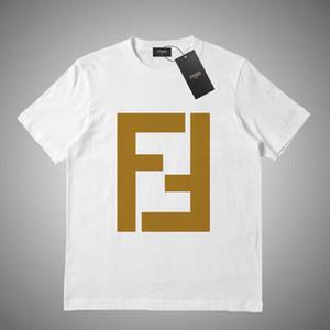 FENDI 2019 di nuovo stile di marea di marca degli uomini cotone Tshirt Lettera stampa di alta qualità di lusso Slim T-Shirt Top Casual Tees # 46515