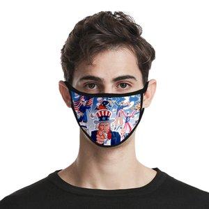 2020 Usa Independence Day Maske für Dame Cubrebocas Farbe Rosa Masken Waschbar Polyester Usa Unabhängigkeit Authenti