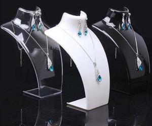 Acrilico Mannequin Jewelry Display Orecchini Modello collane del pendente supporto del basamento per 2pcs monili / lotto Trasporto libero DS13