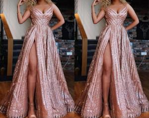 Vestidos de dama de honor de la fiesta de roma sudafricano SHIPLY ROSE AFRICA 2021 con correas de una línea Alta Split Formated Barato Vestido de concurso formal