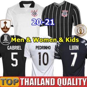 19 20 21 Corinthians Camisetas de futebol PEDRINH 2020 VAGNER LOVE Conjunto de camisa de futebol RAMIRO BOSELLI LUAN Homens Mulheres Kids Kit uniformes