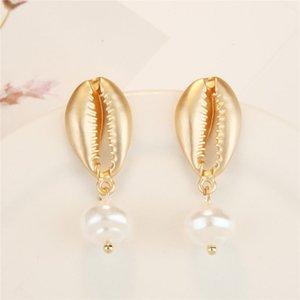 women shell stud earrings Bohemia Shell earrings dangle chandelier summer beach fashion jewelry will and andy jewelry
