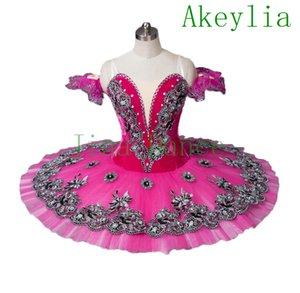Dark pink Velvet Women Flower Fairy Professional Tutu green Pancake Costume Classical blue platter Tutu rose red girls and women