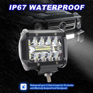 LED 60W 3 righe da 4 pollici riflettori Proiettori guida luci off-road illuminazione del lavoro del LED si illumina riparata corrente di giorno dell'automobile