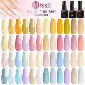 Mtssii Gel Nail Polish Set Hybrid Varnishes 6Pcs Base Top For Nails UV LED Lamp Gel Poly Kits Manicure Nails Polish Set