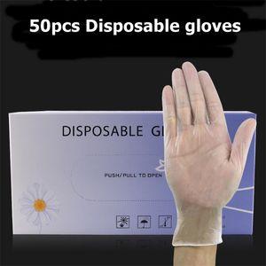 Bulaşık / Mutfak / Bahçe Ev Temizlik İçin 50pcs Tek PVC Eldiven Dövme Eldiven anti bakteriyel Evrensel Koruyucu Eldiven