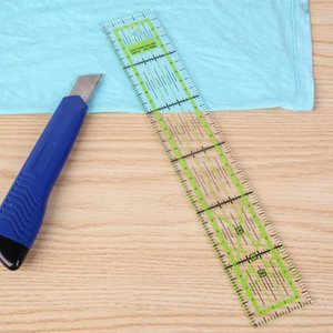 Wholesale-Double-color Ruler Patchwork Feet Tailor Yardstick Cutting Quilting DIY Handmade Sewing Tools stationery drawing Ruler