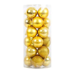 Surwish 24Pcs / Lot 4 centimetri palla di Natale appeso Albero Palla ornamenti per Xmas Decor partito - Golden / rosso / bianco / verde
