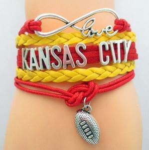 Unendlichkeit Liebe Kansas City Souvenir Armbänder Charme Aufmunterung für Kansas City Mann und Frau Armband