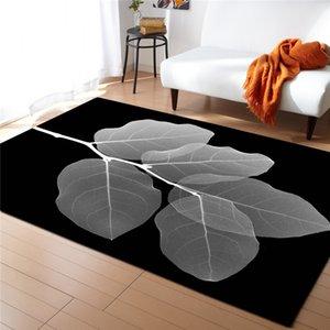 As folhas das plantas impressos Tapetes para Viver Cama Quarto Corredor grande área do retângulo Yoga Mats Modern Outdoor Piso Tapetes Home Decor