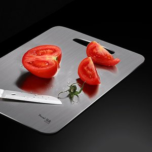 304 Stainless Steel Chopping Block Anti-bacterial Anti-mildew Kitchen Cutting Boards Chopping Board Fruit Vegetable Meat Tools