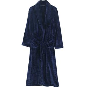 Mens Халат Зимний Nightgown Банный халат Женщины фланель Пара Теплая пижама мужчина пижамы Nightdress халатах