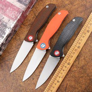 New green thorn F3 folding knife D2 blade titanium Mikata G10 handle camping hunting survival pocket fruit knife EDC tool