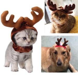 Mignon de Noël Chapeau Chien Chat Couvre-chef Noël Elk Reindeer Antlers bandeau Hat Apparel Nouveau